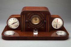 edward-waterfield:  Art Deco Radio with Gilbert Rohde Clock