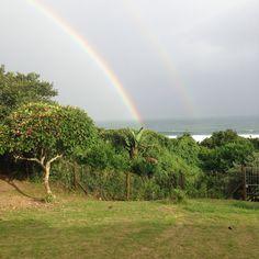 Double Rainbow - Umzumbe Beach House Hibiscus, Beach House, Rainbow, Plants, Beach Homes, Rain Bow, Rainbows, Planters, Plant