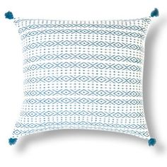 Check out this item at One Kings Lane! Zincantán 18x18 Pillow, Teal