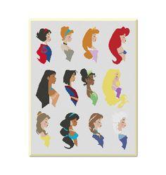 Princesses Disney Cross Stitch PatternInstant by MyCrossStitching