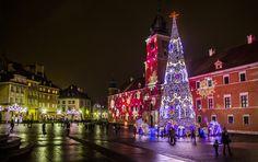 Warszawa jest już świątecznie rozświetlona :)