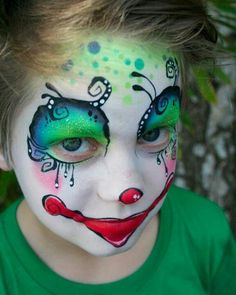 face painting ideas for kids clown. .......seems like it should be an adult clown face.