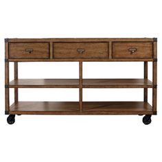I pinned this Loft Console Table from the Fabulous Furniture event at Joss and Main! Rolling island…amazing!