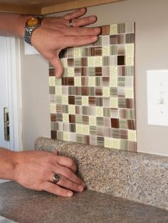 How To Install L And Stick Backsplash Tile Diy Network Box Kitchens