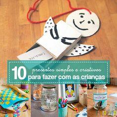 Está atrás de ideias de presentes simples e criativos para fazer com as crianças? Aqui você encontra 10 sugestões bacanas e fáceis de fazer