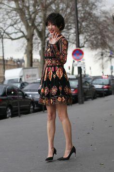 FLARE on Tumblr | Canada's Fashion Magazine: FLARE Paris Fashion Week AW'14 Street Style /...