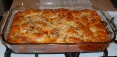 Weight Watchers pizza bake. I think my kids would eat that!