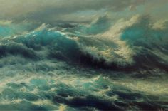 """Wave"" - oil, canvas http://www.russianfineart.com/catalog/prod.php?productid=23872 Russian Master: Vasendin Yury"