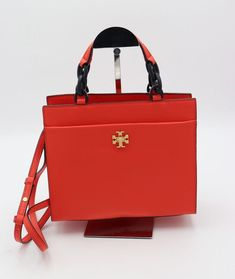 Details About New Tory Burch Leather York Small Buckle Tote Red Handbag Shoulder Bag