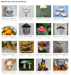 my ceramic mushroom ornament was featured in this etsy treasury by JNpottery.. 07.09.2013.