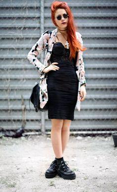 Lua wearing our Black Mid-Length Textured Skirt: http://www.alainnbella.com/default/catalog/clothes/skirts/black-mid-length-textured-skirt.html