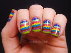 Ruffle manicure