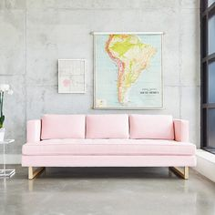 The Aubrey Sofa embodies chic sophistication with piped edges, a button-tufted seat cushion and three luxurious back cushions. An angled back profile and a slim sled base give the Aubrey a clean, refi