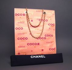 Authentic Authentic Chanel Coco Pink Canvas Large Tote Cheap Sale
