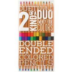International Arrivals Double Ended Colored Pencils ($10) ❤ liked on Polyvore featuring home, home decor, office accessories, coloured pencils and colored pencils