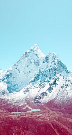 apple ios 7 wallpaper of mountain - Google Search