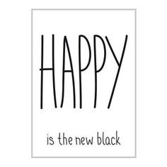 Miniwilla- Poster 30x 40 Happy is the new black