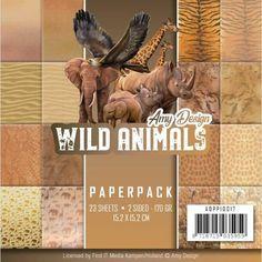 Bloc papier Amy Design Wild Animals 15x15 scrapbooking