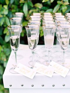 Alcohol Escort Cards That Let Guests Sip While They Sit