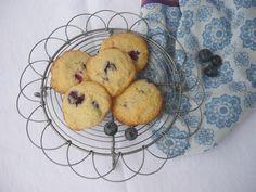 Blaubeercookies mit Ahornsirup