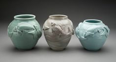 Clay Art Center Artist Rimmie Mosely - Ceramic Vases #CAC