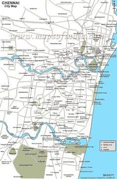 Chennai, City Maps, Diagram