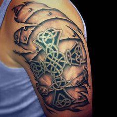 Celtic Cross Tattoos Designs | Full Tattoo