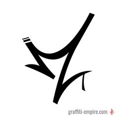 M Graffiti Tag Letter with dynamic lines #graffiti #letter