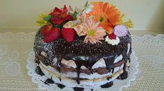 Naked cake cobertura de ganache de chocolate