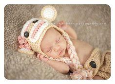 InfantBabyChild / Sock Monkey Hat / GirlBoy Sock by TinyTotTopper, $22.00  www.etsy.com/shop/tinytottopper