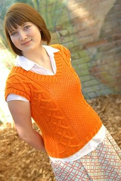Orange Twist - This joyous vest is published on a french blog but the directions are in english -