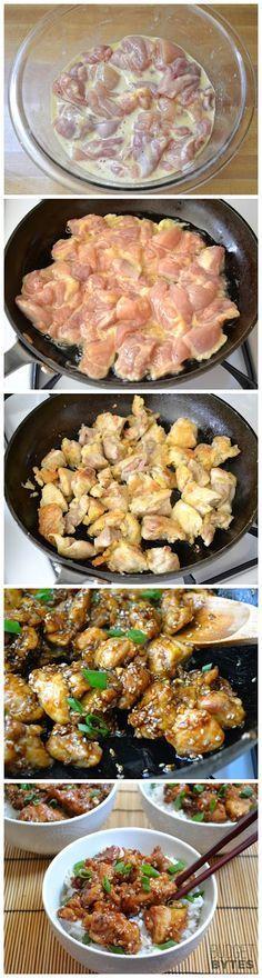 Fácil frango com gergelim