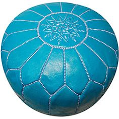 @Overstock - This handmade Moroccan leather pouf ottoman has been beautifully hand-stitched by skilled artisans in Morocco. Taking about seven individual artisans to create, this pouf also features a lovely dark turquoise color.  http://www.overstock.com/Worldstock-Fair-Trade/Leather-Dark-Turquoise-Pouf-Ottoman-Morocco/5663533/product.html?CID=214117 $209.99