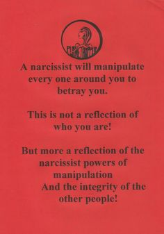 If you have been a victim of narcissistic abuse, NPD or abused by a sociopath/psychopath then you can find help here. Free yourself of the abuse with educating yourself and removing the toxic people from your life. Knowledge is power! Narcissistic People, Narcissistic Mother, Narcissistic Behavior, Narcissistic Sociopath, Traits Of A Narcissist, Narcissistic Personality Disorder, Narcissist Quotes, Verbal Abuse, Emotional Abuse
