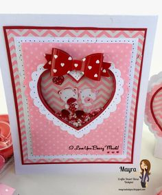 Love you Beary Much Shaker card - Mayras Designs