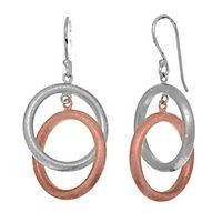 Stardust Jewelry collection PINK DOUBLE RING EARRINGS IN STERLING SILVER via ------------ Pearls and All Jewelry ------------ Call now to order! 1-914-455-0991. Click on the image to see more!