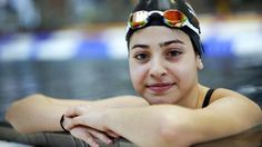 Yusra Mardini: a set of siblings who pushed their sinking boat in the Steam Sea while escaping from Syria who became an Olympic Swimmer on the team of refugees during the 2016 Rio Olympics Olympic Swimmers, Olympic Team, Paralympic Athletes, Syrian Civil War, Sports Update, Syrian Refugees, Rio Olympics 2016, Thinking Day, Cbs News