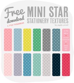 Star Stationery Textures