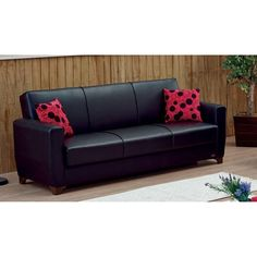 Simple and comfortable, this Empire Furniture USA Harlem Convertible Sofa is a perfect fit for any living room or den.