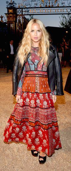 American Stylist Rachel Zoe wearing a Burberry A/W15 dress to attend 'London in Los Angeles'