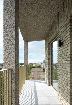 19 social housing apartments for elderly with garage for 15 cars. Brick Architecture, Contemporary Architecture, Landscape Architecture, Brick Facade, Brick Wall, Urban Fabric, Keep The Lights On, Social Housing, Walled City