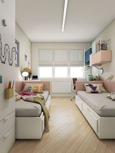 Kids Bedroom Designs, Home Room Design, Kids Room Design, Bedroom Ideas, Room Kids, Kids Bed Frames, Shared Bedrooms, Small Shared Bedroom, Modern Kids Bedroom