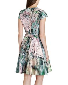 Glitch floral printed dress - Peach | Dresses | Ted Baker UK