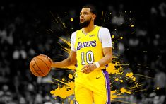 Download wallpapers Tyler Ennis, 4k, basketball players, NBA, Los Angeles Lakers, grunge, basketball, art, LA Lakers