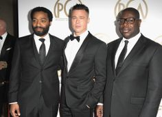 Brad Pitt, Steve McQueen, and Chiwetel Ejiofor took a seriously handsome picture together.