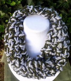 HandKnit Cowl scarf Hand Knit neck scarf by BeadsKnitsAndBits