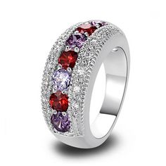 Passione Rosso & Viola - #RedGarnet & Purple Amethyst Silver #EngagementRing #LaMiaCara