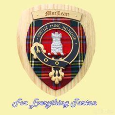 Clan MacLean Tartan Woodcarver Wooden Wall Plaque MacLean Crest 7 x 8