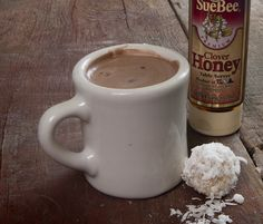 Enjoy a cup of Sue Bee Honey Hot Chocolate during the holiday season! Pair it with a delicious Sue Bee Honey Coconut Snowball for the perfect pairing.