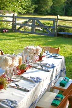 garden party. Your guest will appreciate a wrap or blanket left on their chair.